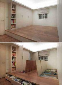 Storage platform in guest room