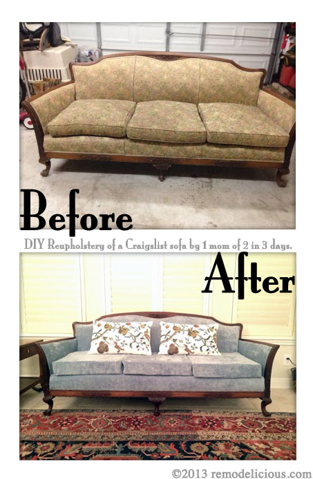 Genial DIY Sofa Re Upholstering Project How To