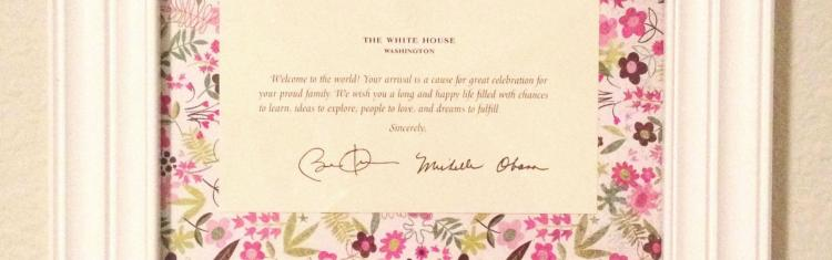 Send your childs birth announcement to The White House – When to Send Birth Announcements