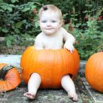 Baby in a Pumpkin Photo Op #TBT
