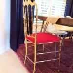 Our New Statement Dining Chairs: Vintage Brass Chiavari