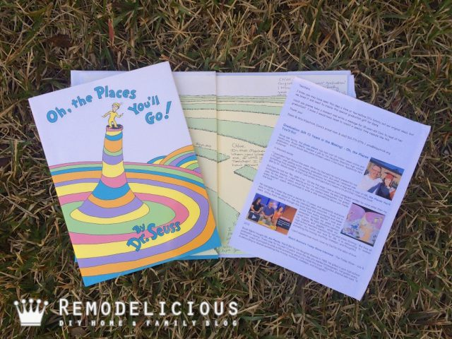 "Dr. Seuss ""Oh, the Places You'll Go!"" Book of Memories Graduation Gift Details + Free Letter to Teachers Download 