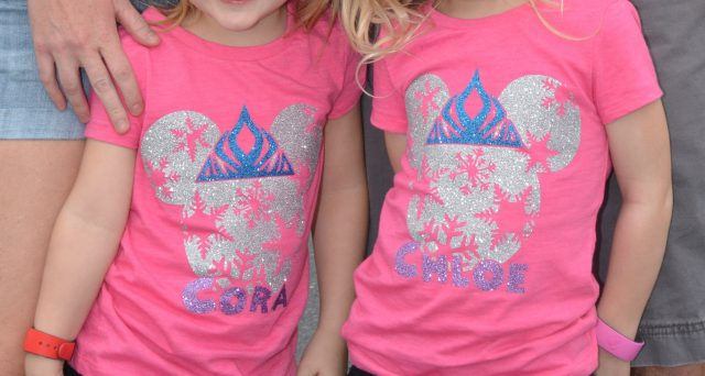 DIY Homemade glitter Disney World or Disneyland Frozen Minnie Mouse Glitter Shirts | Remodelicious