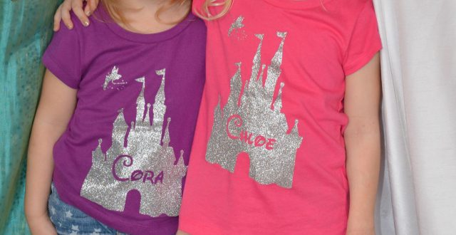 DIY Homemade glitter Disney World or Disneyland Tinker Bell Glitter Shirts | Remodelicious