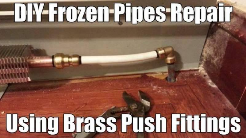 Fix Frozen Pipes DIY