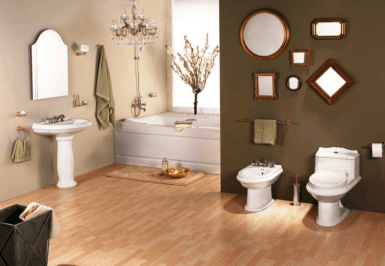 Unique bathroom decor, a fusion of contemporary style with old-world charm