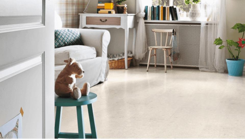 Light Beige Cork Flooring in a Kid's Bedroom