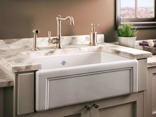 White Porcelain Kitchen Sink