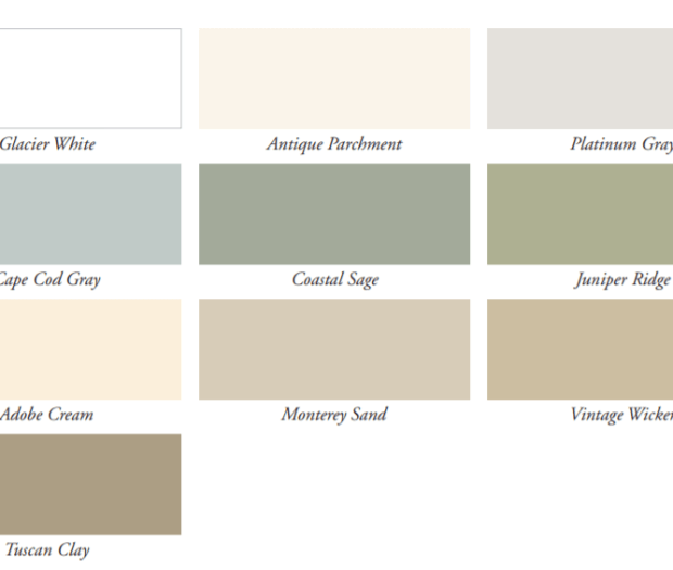 Alside Vinyl Siding - Charter Oak Classic Colors