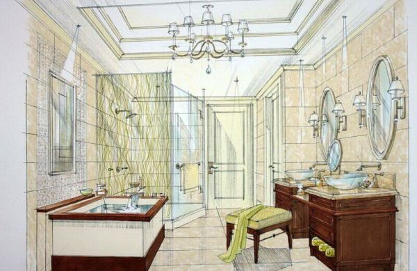 Bathroom Remodel layout plan