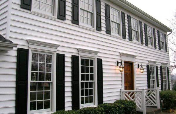 Beaded clapboard vinyl siding