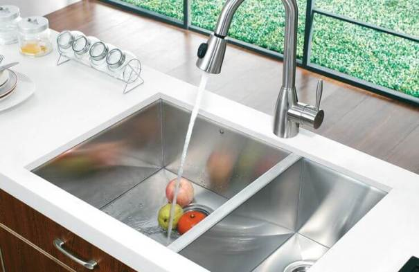 Deep bowl kitchen sink