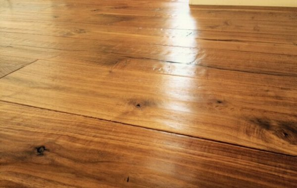 waxed Hardwood flooring