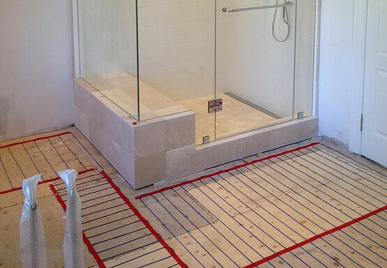 Heated bathroom floors