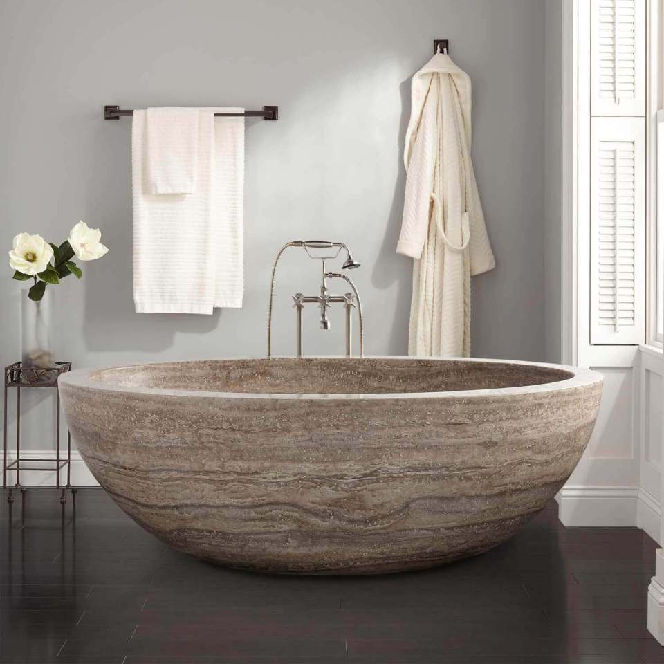 Luxury Travertine Bathtub