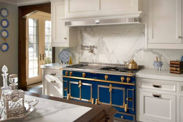 Navy blue stove