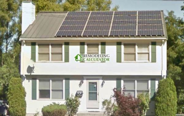 Solar Panels on Standing Seam Roof