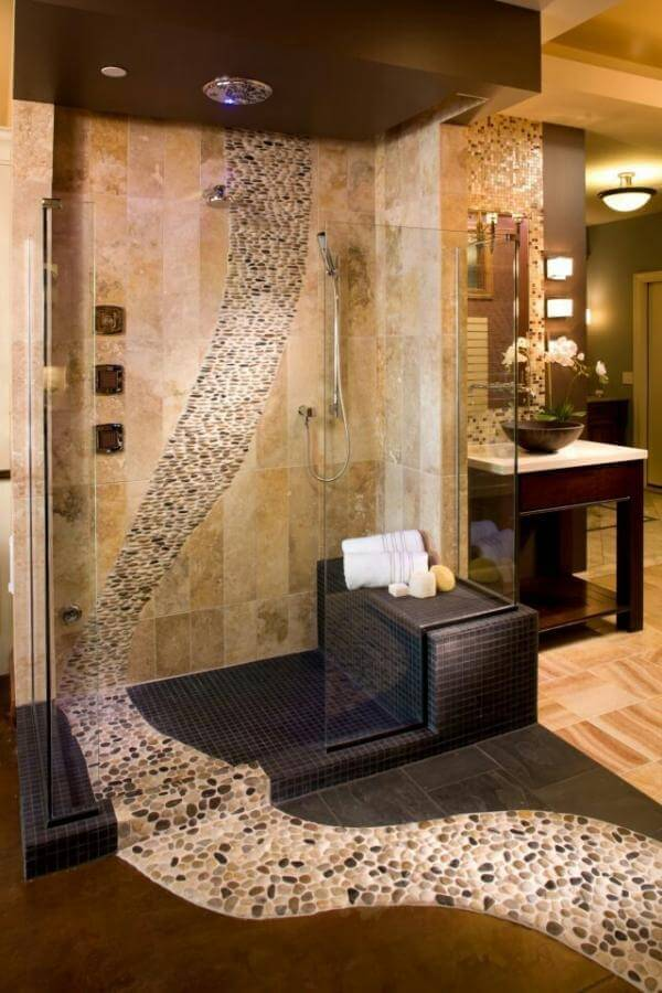 unique bathroom tile design