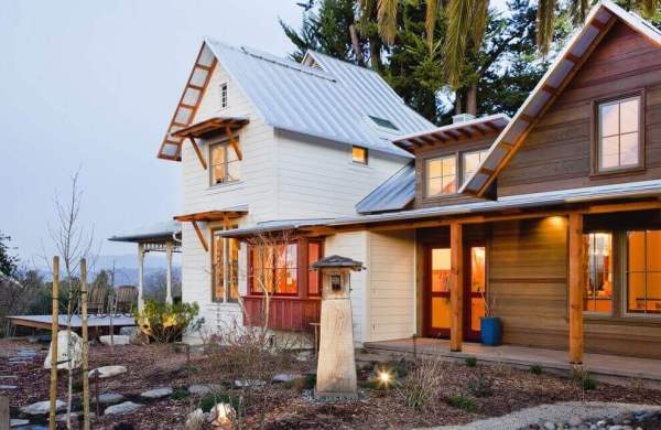 Wood Tongue and Groove Siding on a Modern Home