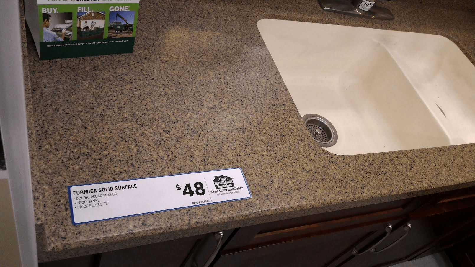 Top 15 countertop costs plus pros cons 2017 2018 home for Corian cost per square foot