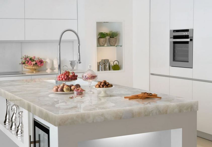 White Quartz Countertop by Marble of the World