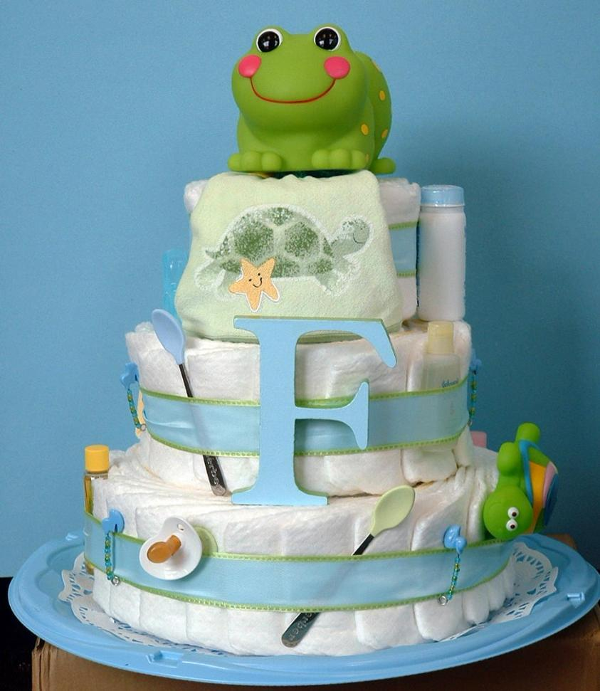 baby-shower-cake-with-sugar-frog