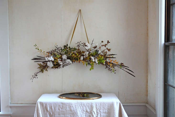 DIY Cotton Garland, finished, by Justine Hand for Gardenista