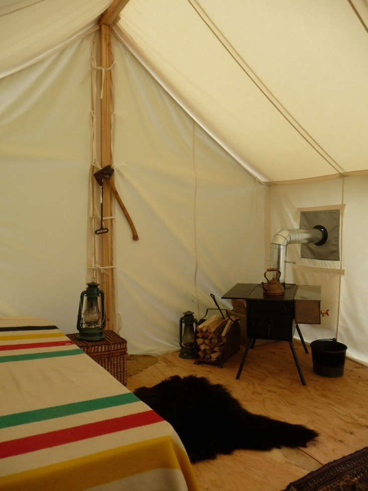Tent Stove Wall Canvas