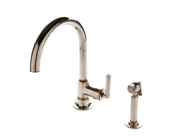 henry one hole gooseneck kitchen faucet