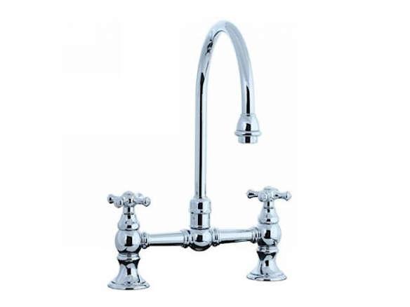 cifial two handle bridge kitchen faucet