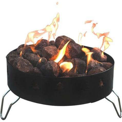outdoor patio propane fire pit ring