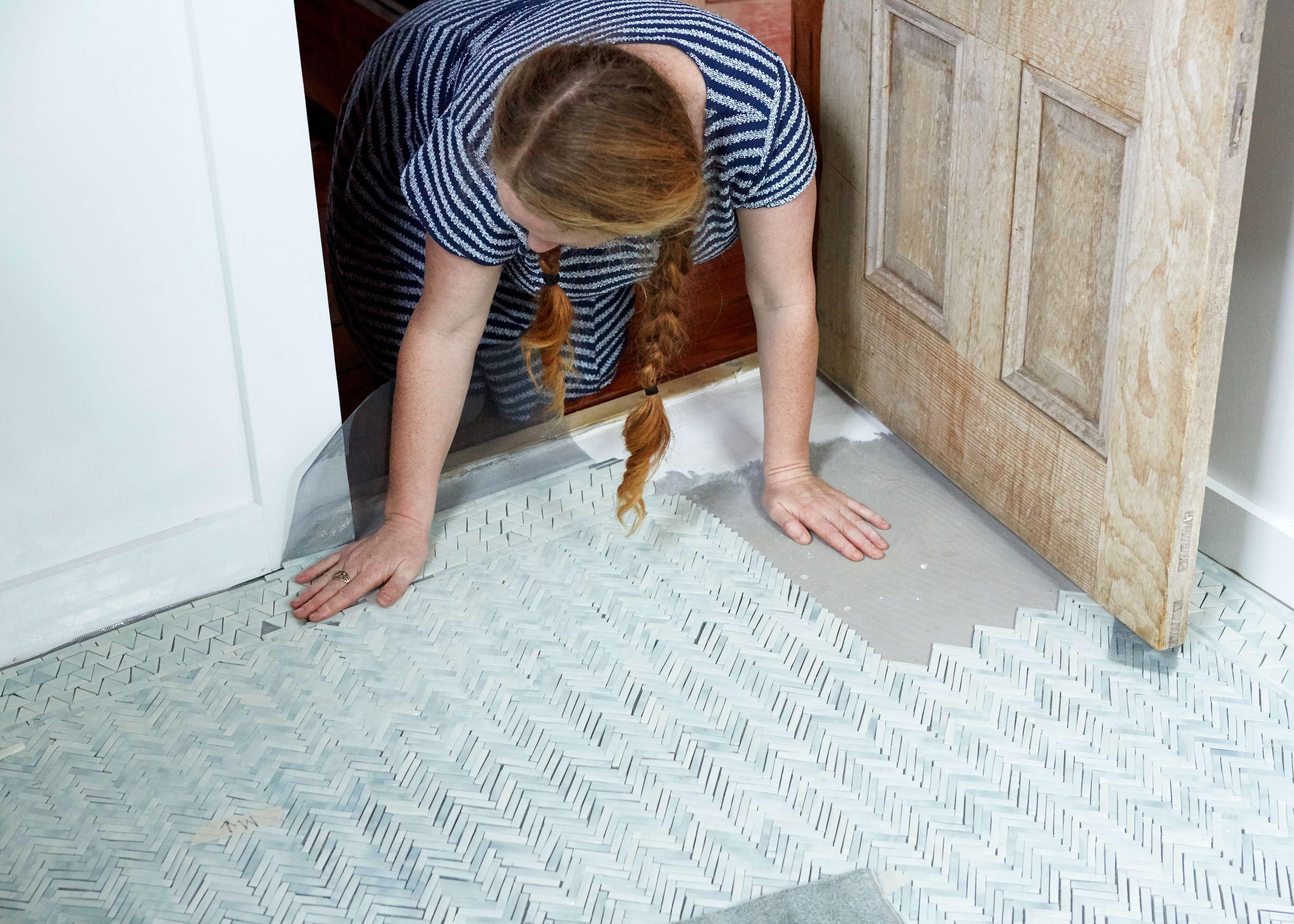 mosaic tile floor