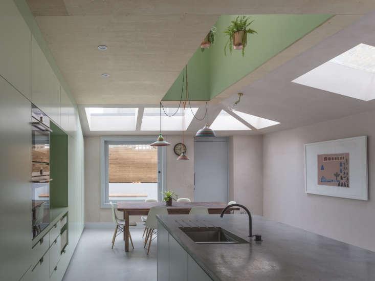 Pink House Kitchen Addition London, Rectangular And Triangular Skylights, Simon Astridge Architects, Nicholas Worley Photo
