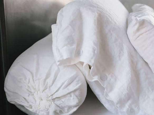 rough linen bolster
