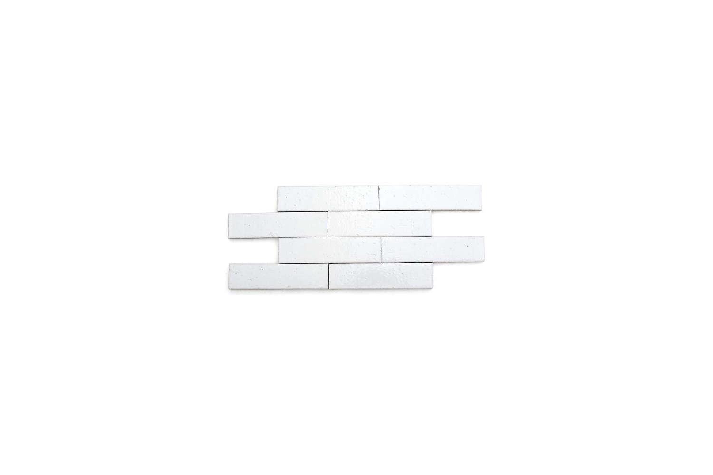 modern farmhouse brick gloss white