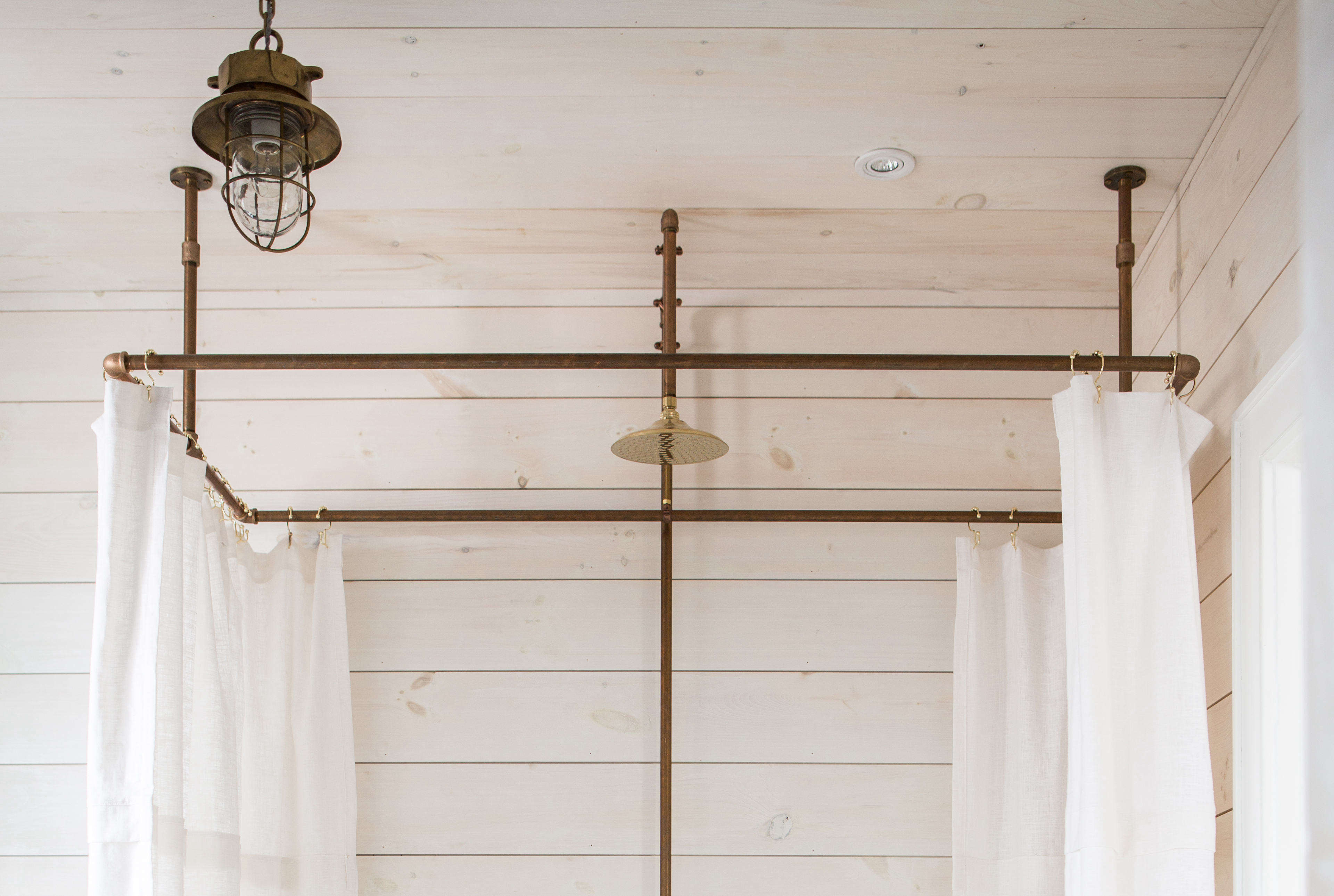 a diy shower curtain hoop made from