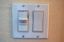 occupant sensor light switch