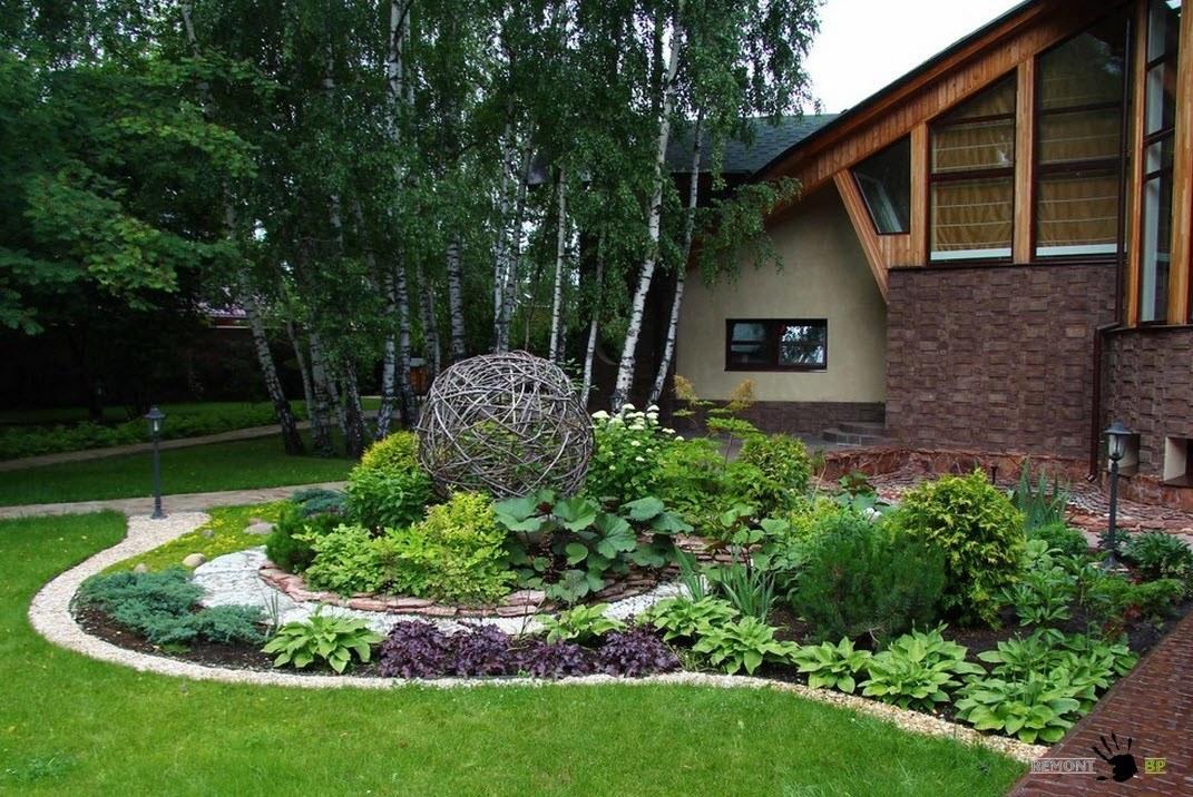 ландшафтный дизайн двора частного дома фото 5