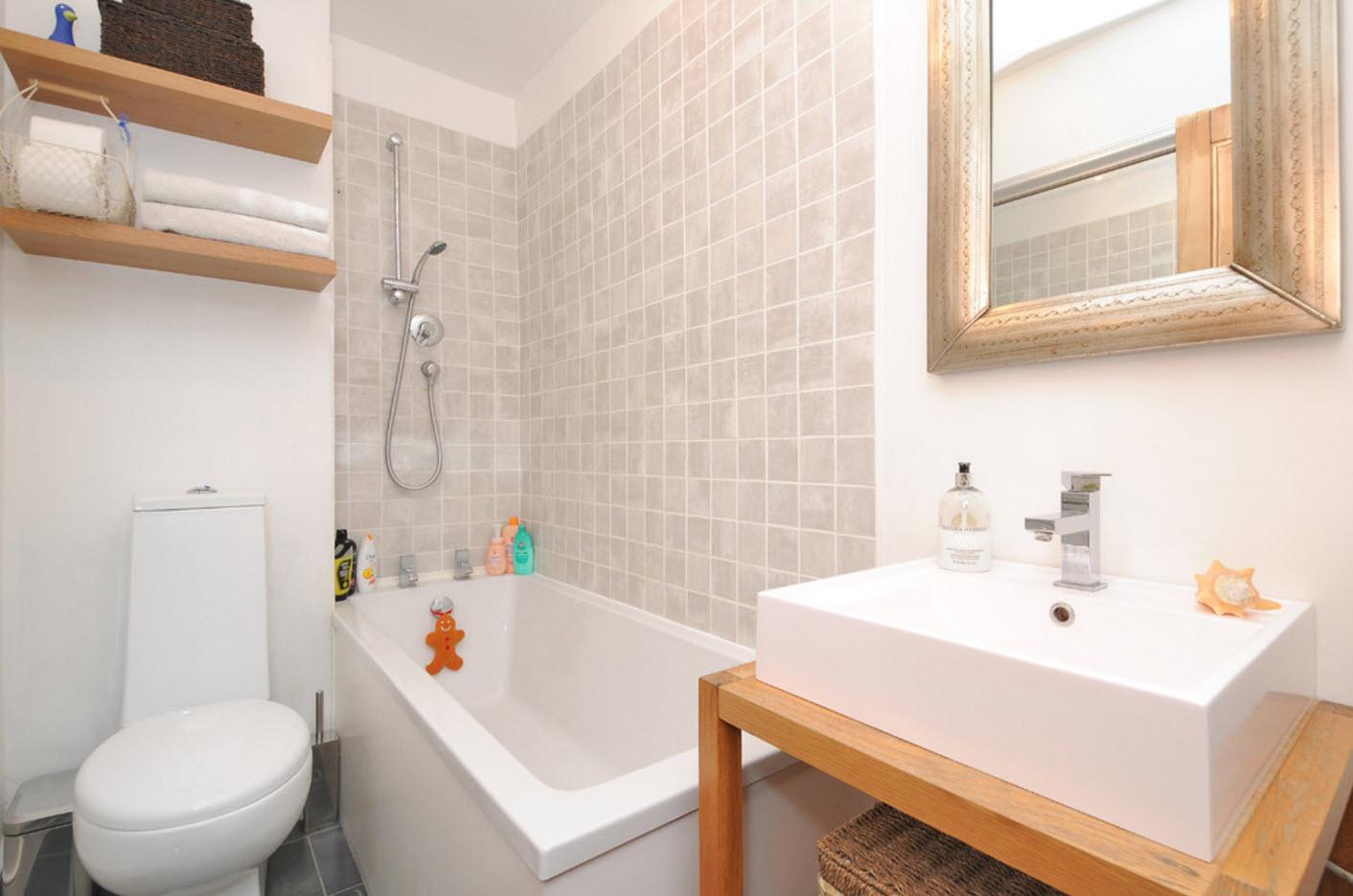 дизайн маленькой ванной комнаты 2019 1
