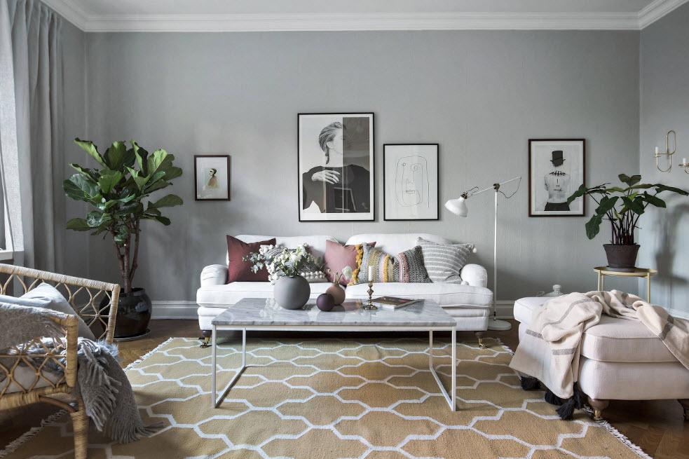 дизайн зала в квартире фото 2018 3