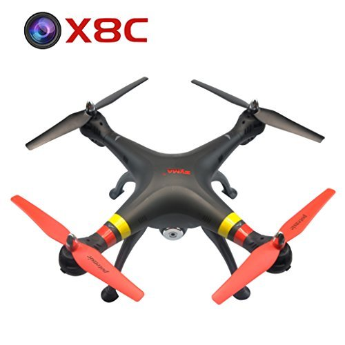 Potensic Black New Version Syma X8c 2.4g Venture with 2mp Wide Angle Camera RC Quadcopter Drone UFO Better Than X5c Great Gifts