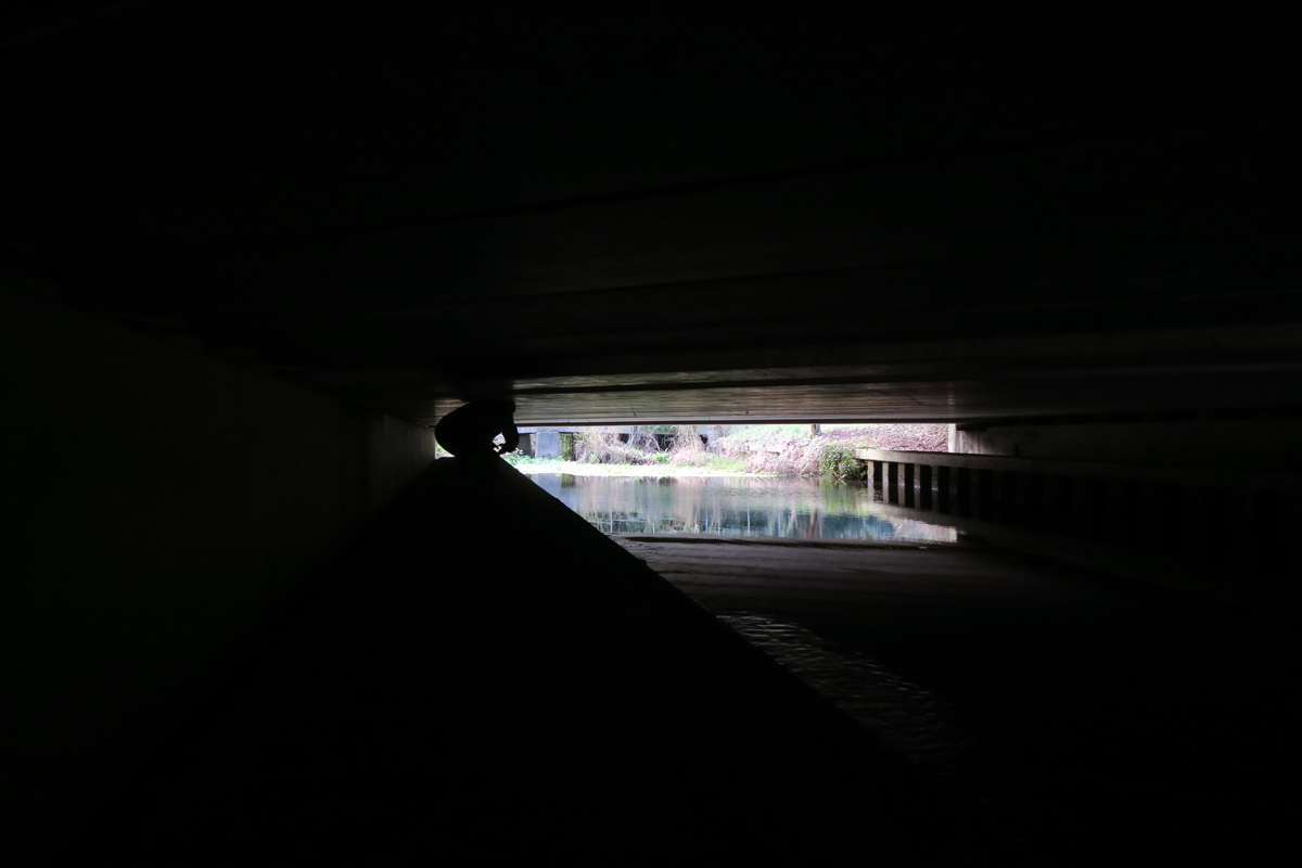 Crawling alongside the Colne Brook as it flows under the M25
