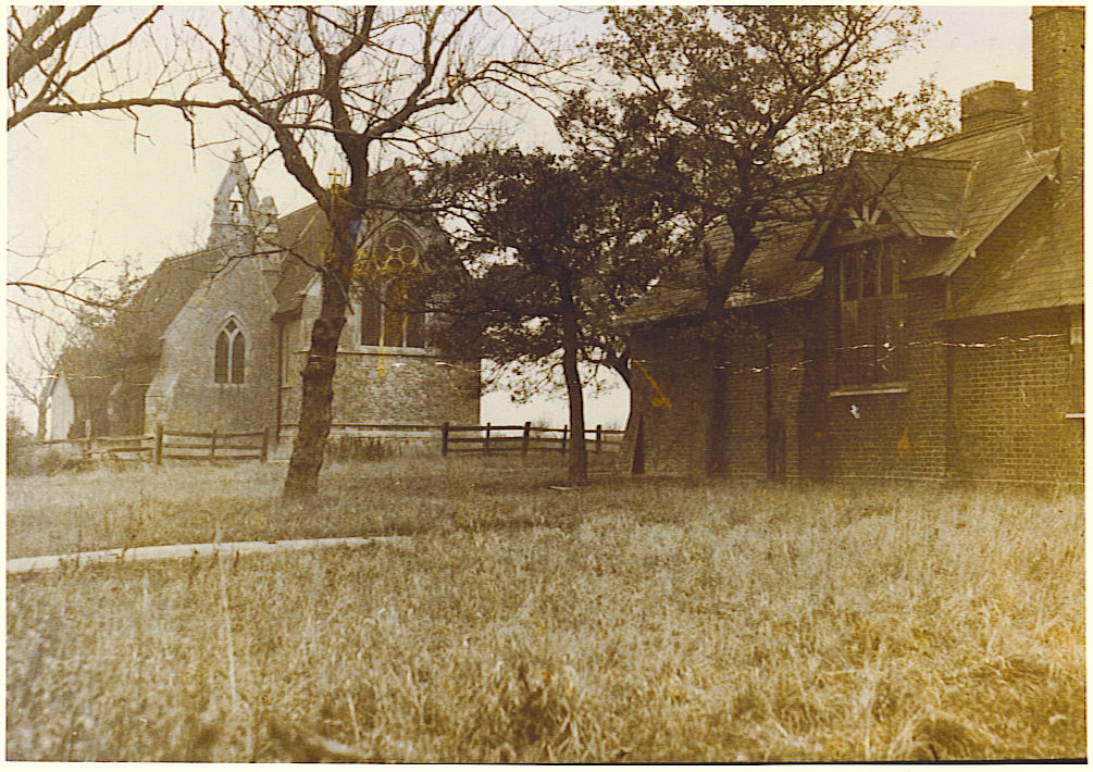 Sepia photograph showing Elmley Church