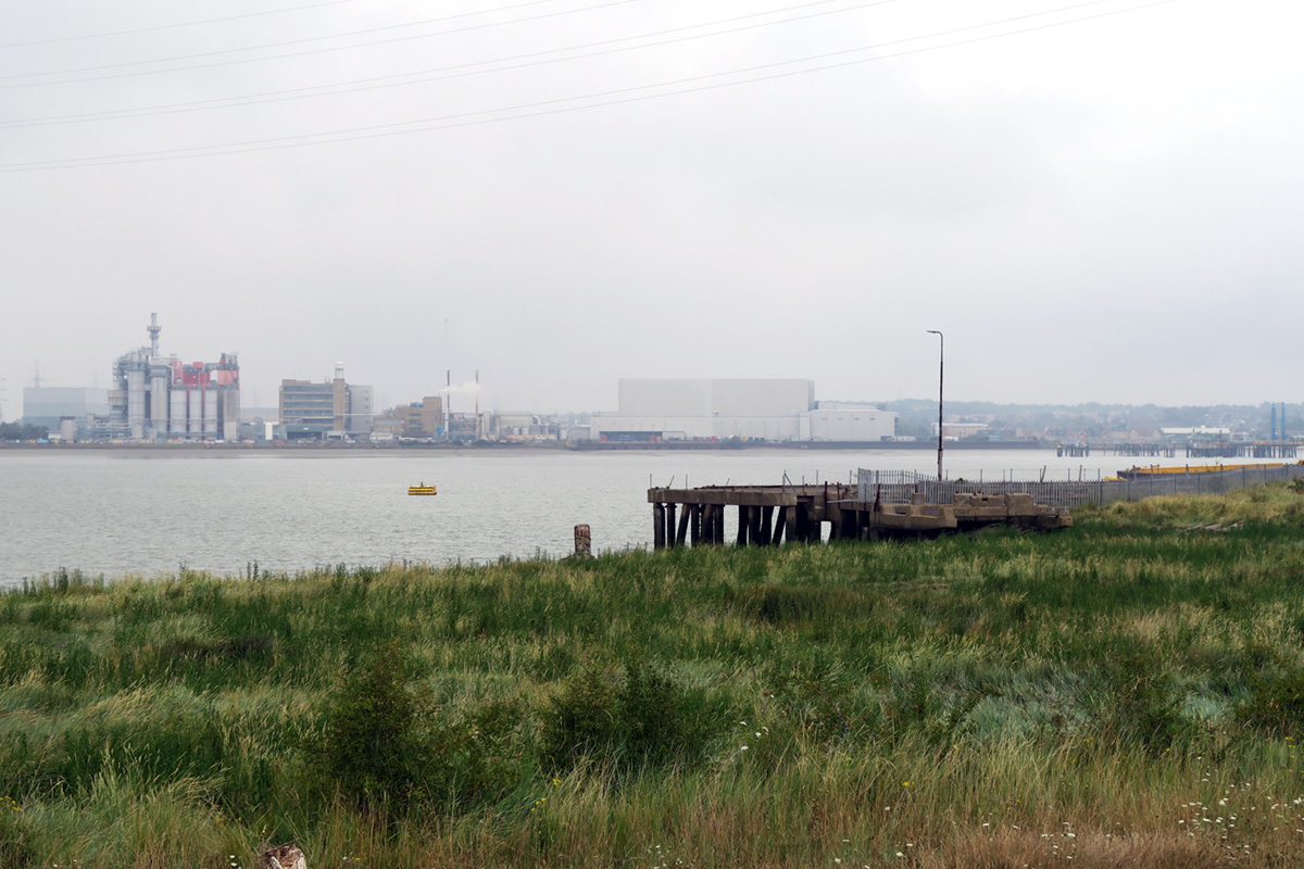 The derelict Bell Wharf, which once served the inland cement works