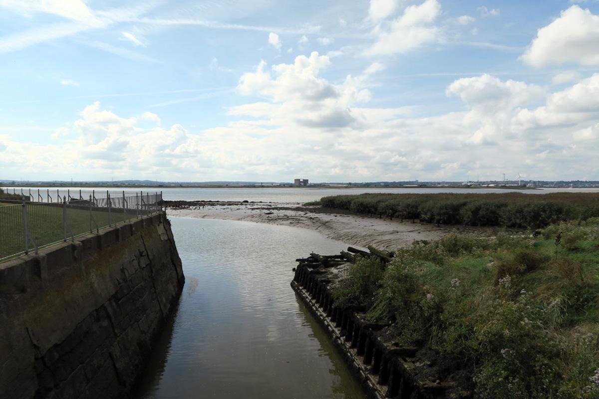 The Mardyke meets the Thames