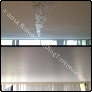 Cracked ceiling in condo repaired near Metrotown; Burnaby, BC