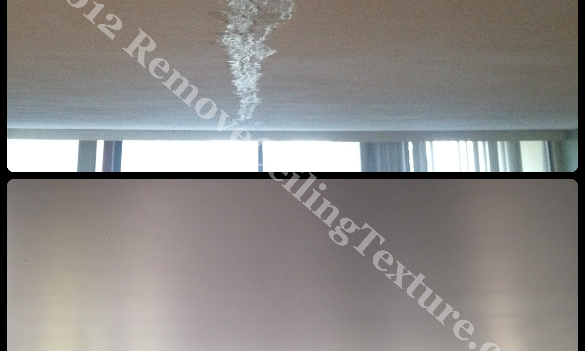 Cracked concrete ceiling in condo repaired Burnaby BC