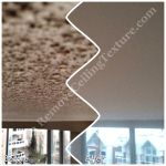Fire damaged popcorn ceiling in New Westminster BC