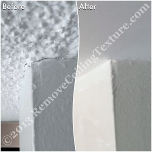Ceiling texture can crack around the walls