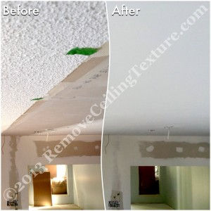 Texture removal instead of trying to match existing ceiling texture